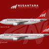 Nusantara Indonesian Airlines Airbus A300-600R, Airbus A310-300   PK-AFV, PK-AGG