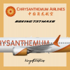Chrysanthemum Airlines Boeing 737 MAX 8 Livery
