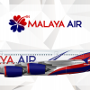 Malaya Air Airbus A380-800 Livery