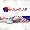 Malaya Air Boeing 737-800 Merdeka Livery
