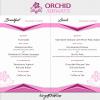 Orchid Airways Menu Card - Economy [SIN-SYD] Breakfast & Lunch