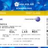 Malaya Air First Class Boarding Pass