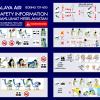 Malaya Air Boeing 737-800 Safety Card
