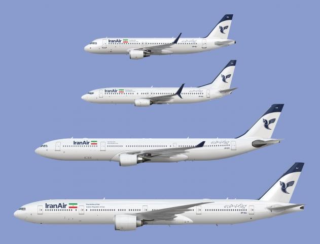 Iran Air A320/737/A330/777 - AH45's Real life liveries