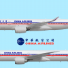 China Airlines Retro Livery A350 and B777