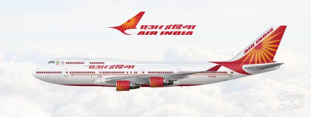 Air India Boeing 747 400