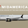 6. Boeing 737 MAX 8 (New Orleans Saints Livery)   N108MA