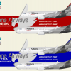 Kelana Airways Indonesia & Malaysia Boeing 737-700 & Boeing 737-800