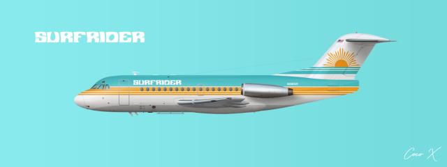 Surfrider Fokker F28 (Original Livery)