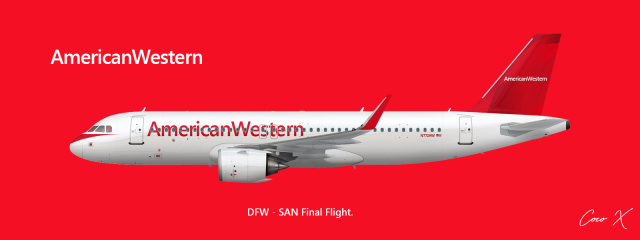 AmericanWestern A320neo (Final Livery)