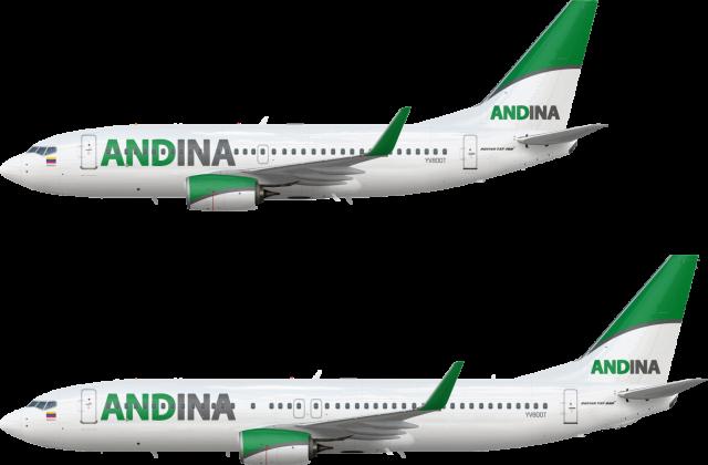 Andina Boeing 737 NG Fleet