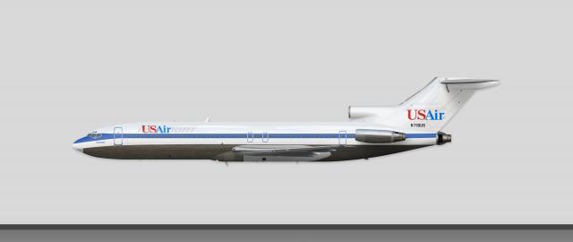usair piedmont airlines boeing 727 214 n718us hybrid transition rh airline empires com Boeing 757 Boeing 707