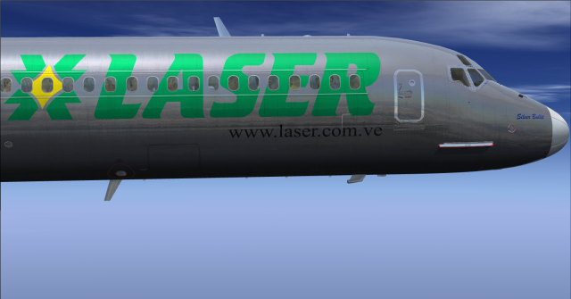 "McDonnell Douglas MD-82 YV3365 Laser Airlines ""Silver Bullet"""