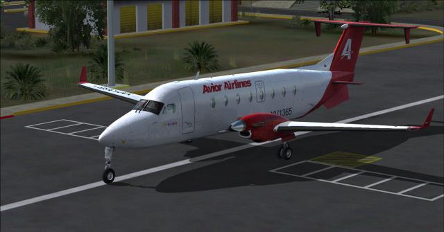 Beechcraft 1900D Avior Airlines St Barbara Airport