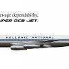 Hellenic National DC-8-43 (60's Scheme)