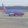 Southwest 737 pulling into gate A1