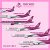 Orchid Airways Current Fleet Types and Liveries