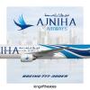 Ajniha Airways Boeing 777-300ER Livery
