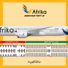Afrika Boeing 787-9 Livery & Seat Map