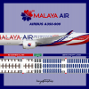 Malaya Air Airbus A350-900 Livery & Seat Map