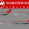 Northwest Bowlingshoe Douglas DC-9's