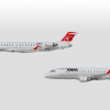Northwest Airlink Premerger Bombardier CRJ-900 and Embrear 175
