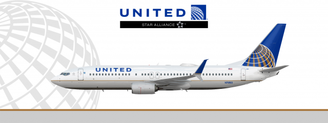 United Airlines Boeing 737 800 Real World Liveries By