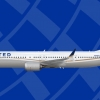 United Airlines 737 Max 10 Dreamliner livery