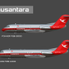 2. Fokker F28 Fellowship Poster (1973-1990 livery)