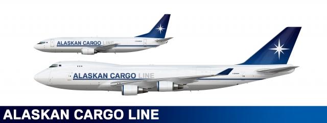 Alaskan Cargo Line 747-400F And 737-400F