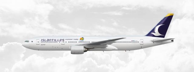 Boeing 777-200 | PJ-OLL | Speical #summer ready livery - islantilles