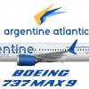 Argentine Atlantic 737 MAX-9 in atlernate livery