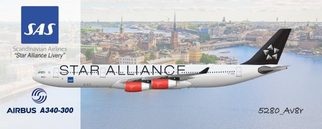 SAS | Airbus A340-300 | Star Alliance Livery