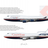 Canadian Airlines Boeing 747-400 Poster