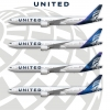 United Airlines New livery's on 777-300er