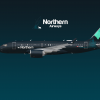 Airbus A220-100 Special Northern Lights livery