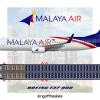 Malaya Air Boeing 737-800 Livery & Seat Map