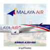 Malaya Air Airbus A350-900 Livery   NEW !