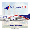 Malaya Air Airbus A380 Livery   NEW !