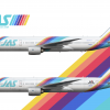 Japan Air System Boeing 777 200 Poster