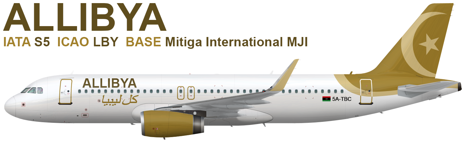 Allibya Airbus A320 Global Design Gallery Airline Empires