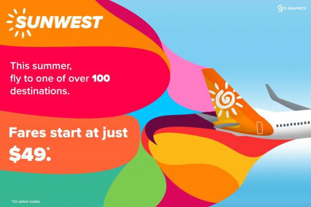SunWest #GetFunked Campaign summer ad
