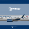 SunWest Boeing 737-800 'To Those Who Serve' Special livery