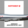 Northwest B747-400