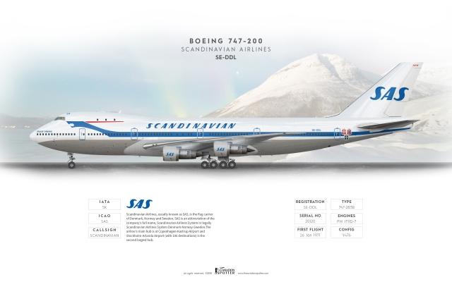 Scandinavian Airlines B747 200