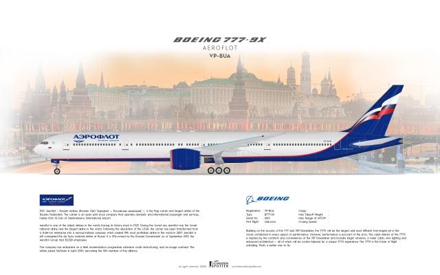 Aeroflot Boeing B777 9X ''Concept''