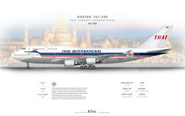 THAI Boeing 747 400 ''Retro Livery''