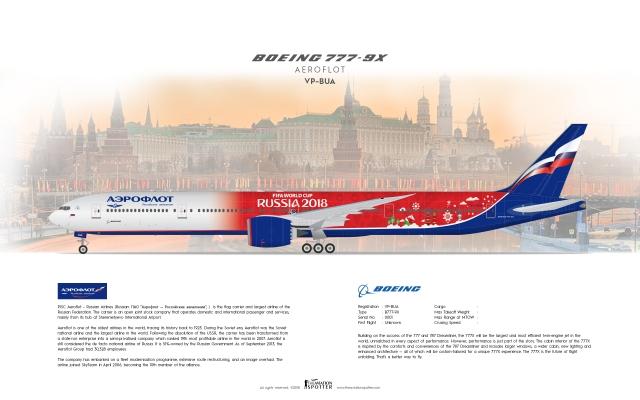 Aeroflot Boeing B777 9X ''World Cup 2018 Concept''