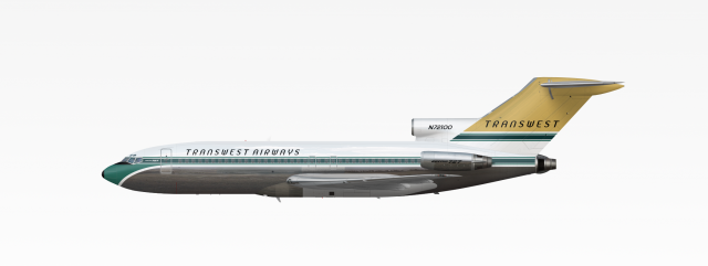 TransWest Airways | Boeing 727-100 | 1965-1983