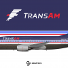 TransAm Boeing 737-300 (80's-something livery)